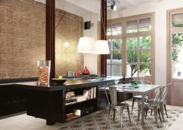 Cementtegels - woonkamer