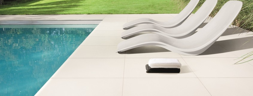 Carrelages de la piscine