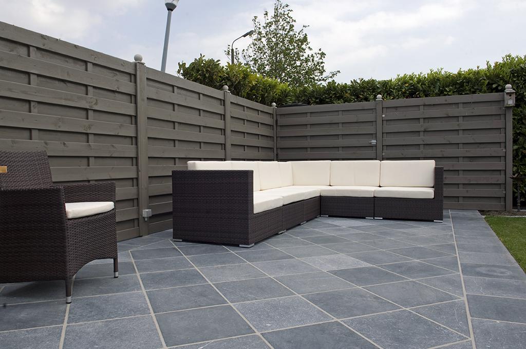 quelques idées pour harmoniser terrasse et jardin - Carrelage Exterieur Imitation Pierre Bleue