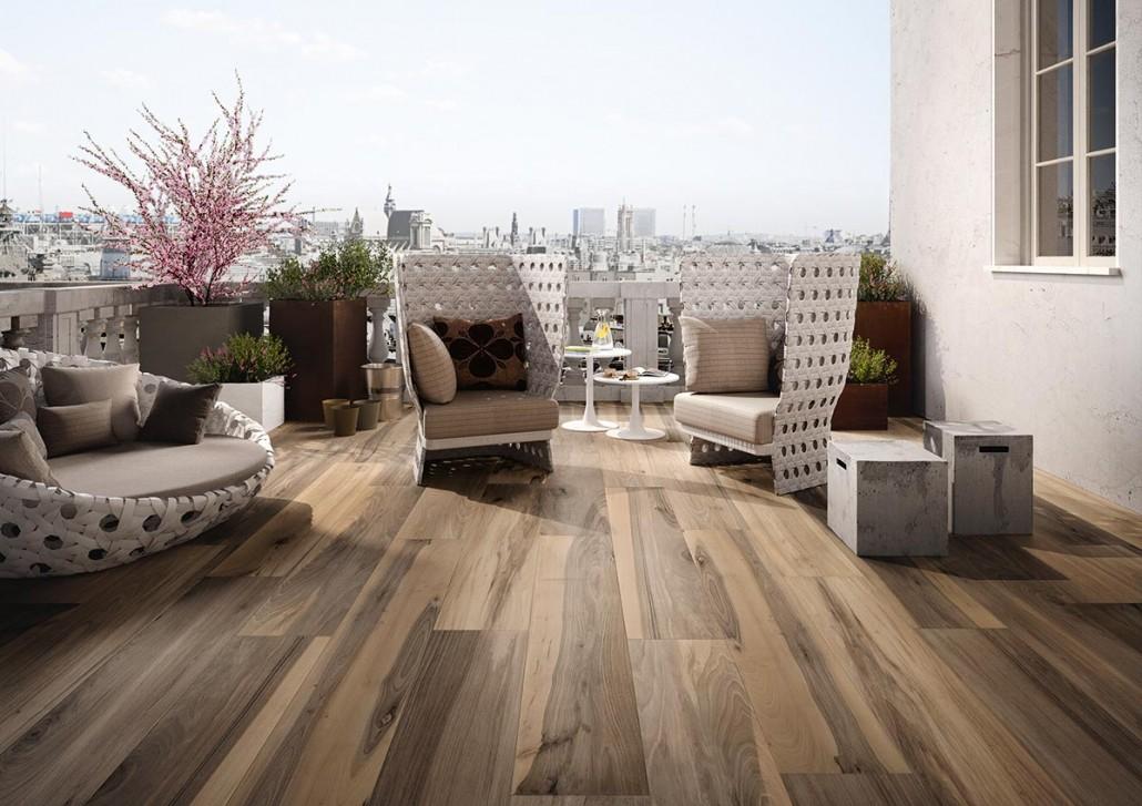 De troeven van keramische parkettegels voor uw terras