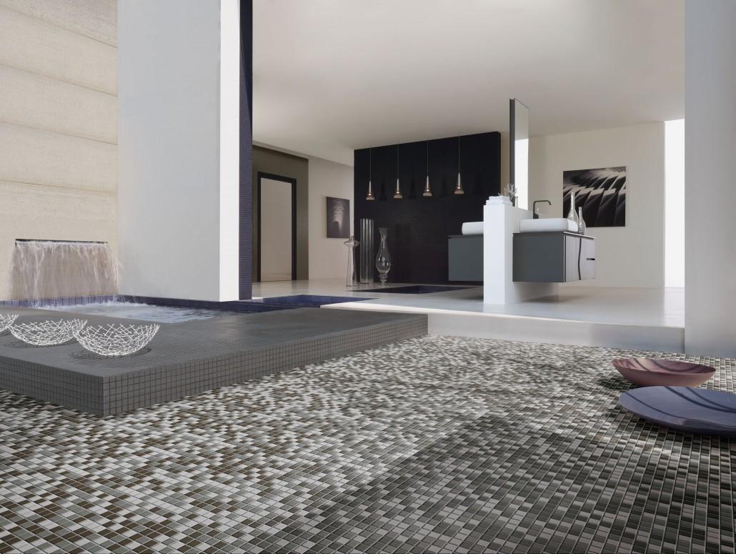 Renovatie Badkamer Tegels : Topper: mozaïektegels in je badkamer of wellnessruimte intercarro