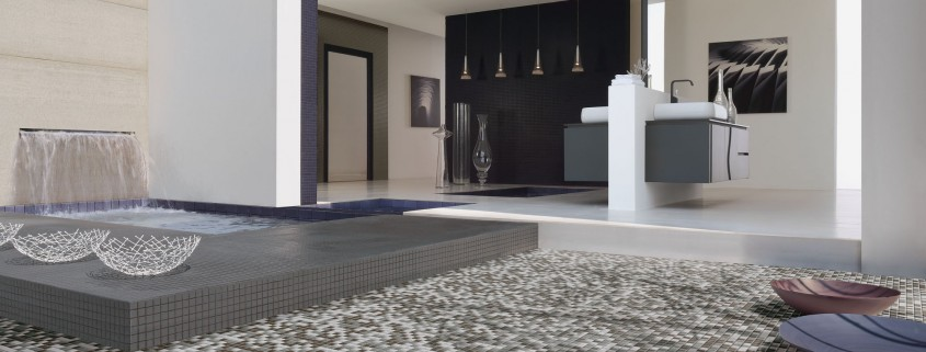 vloertegels badkamer renoveren mozaïek